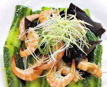 孕期补气养血食谱:米酒炒海虾